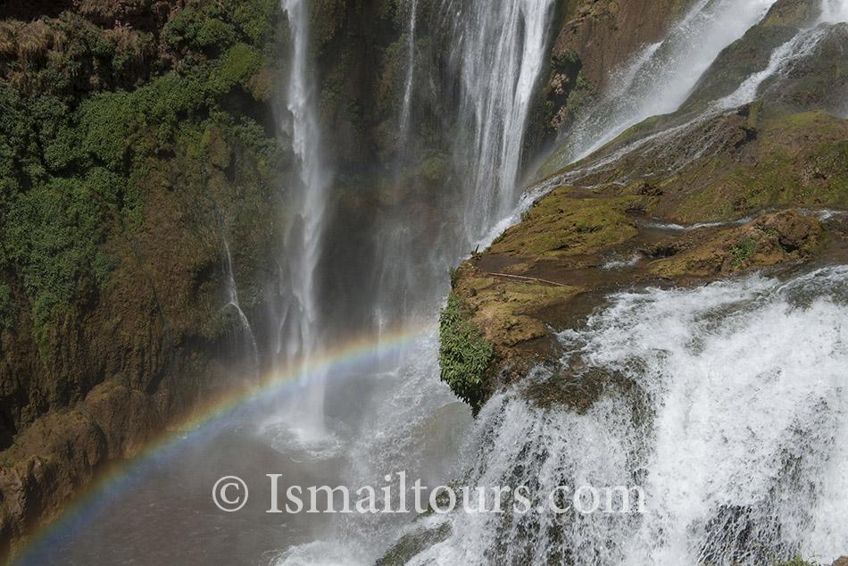 Marokko , Ouzoud, 20140529. Waterval, bekendste van Marokko, Waterfall, turistic place. Naamsvermelding verplicht; Foto: Sabine Joosten/Hollandse Hoogte