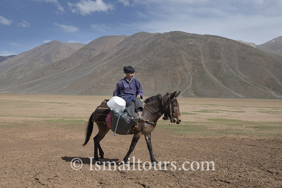 Marokko 20140530. Marokkaanse man op zijn muildier. Marocain man, at his mule. Model released. Naamsvermelding verplicht; Foto: Sabine Joosten/Hollandse Hoogte