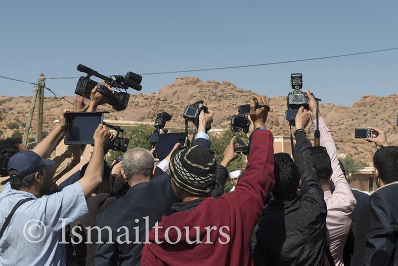 Marokko, Aoussift, 20150307. Fotografen aan het werk. Foto ; Sabine Joosten/Hollandse Hoogte